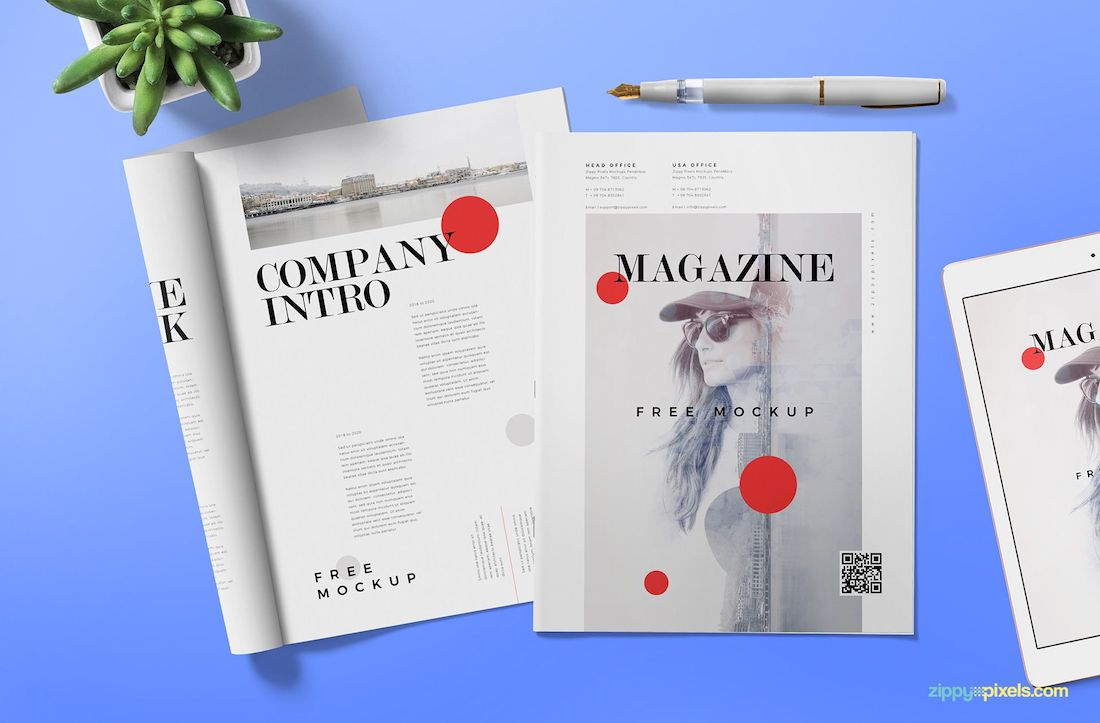 Magazine ad mock-up