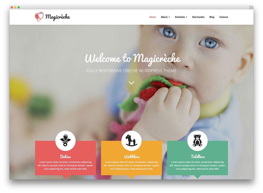 Magicreche kindergarten template