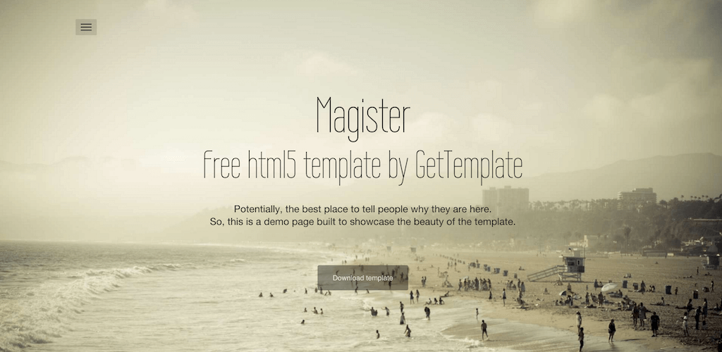 Magister Free html5 template by GetTemplate
