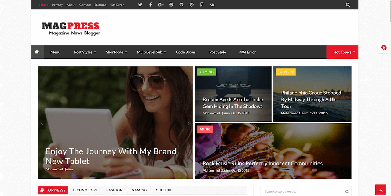 Magpress Blogger Template Light