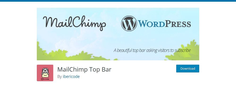 MailChimp Top Bar