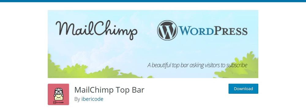 MailChimp Top Bar