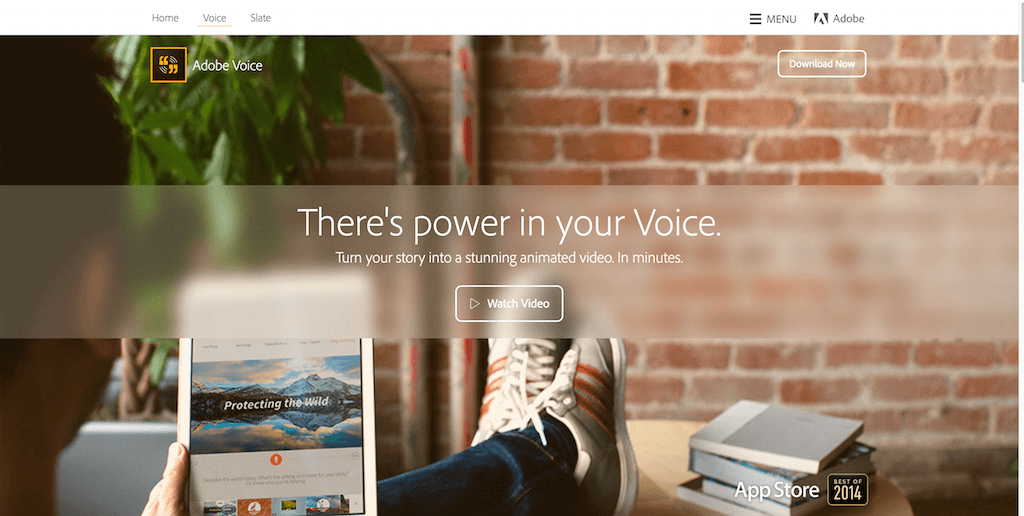 Make a stunning animated video. In minutes. Adobe Voice