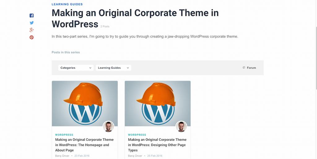 Making an Original Corporate Theme in WordPress