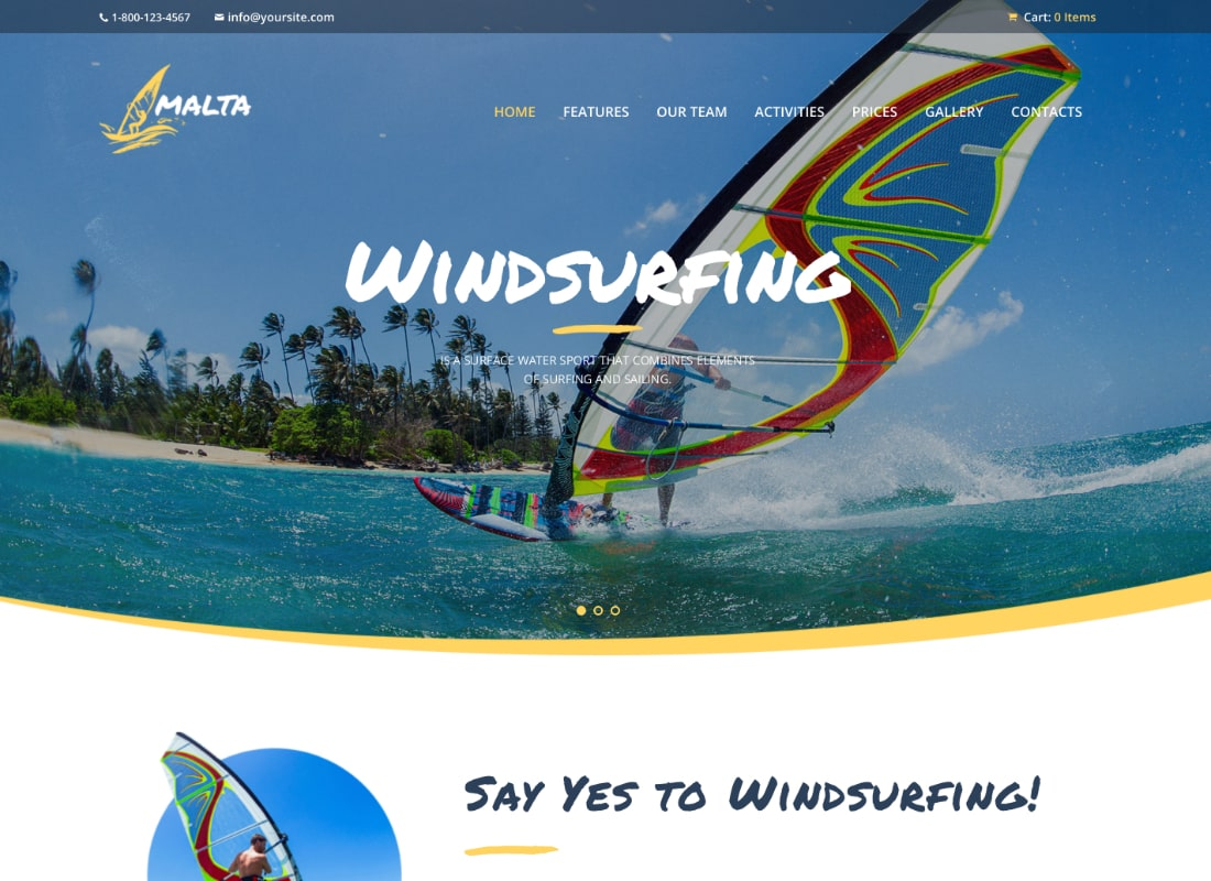 Malta | Windsurfing, Kitesurfing & Wakesurfing Center WordPress Theme
