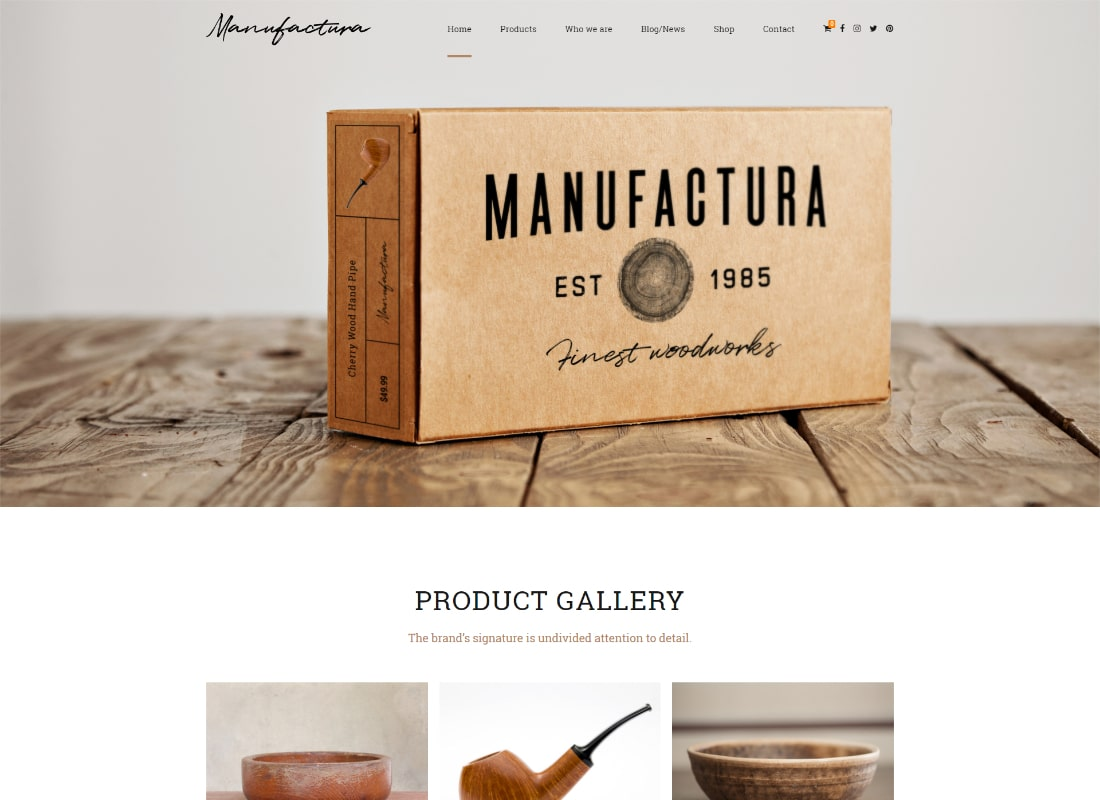 Manufactura | Handmade Crafts, Artisan, Artist WordPress Theme