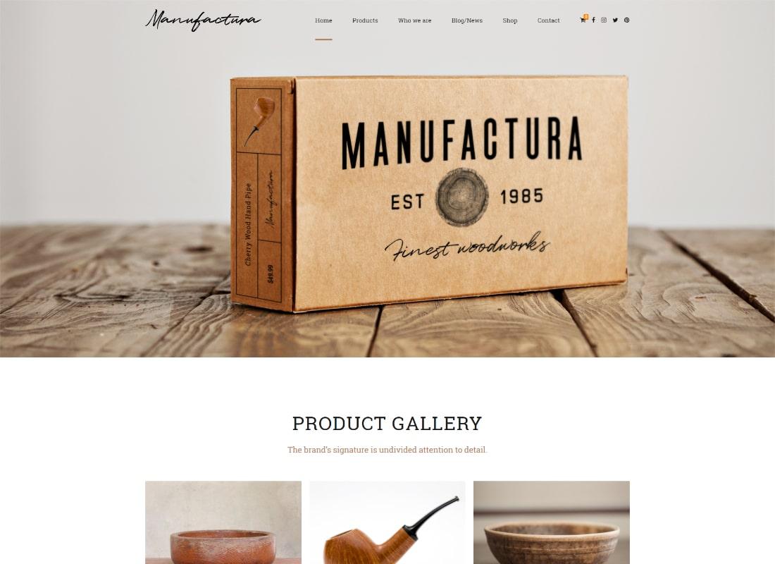 Manufactura | Handmade Crafts, Artisan, Artist WordPress Theme