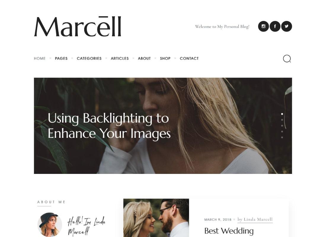 Marcell | 20+ Layouts Multi-Concept Personal Blog & Magazine WordPress Theme
