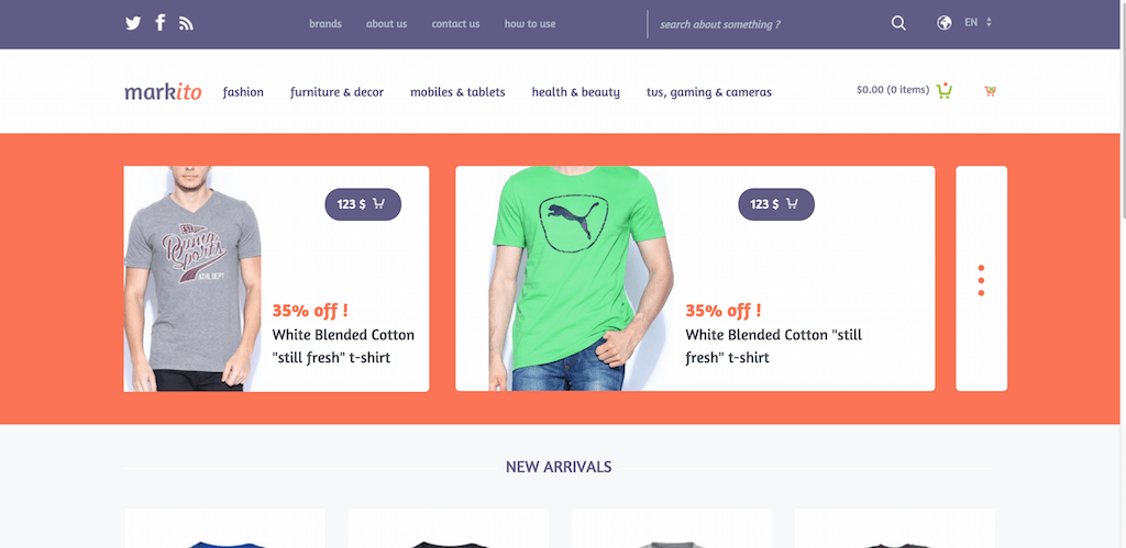 Top 28 Free eCommerce Website Templates Built With Bootstrap 2017 ...