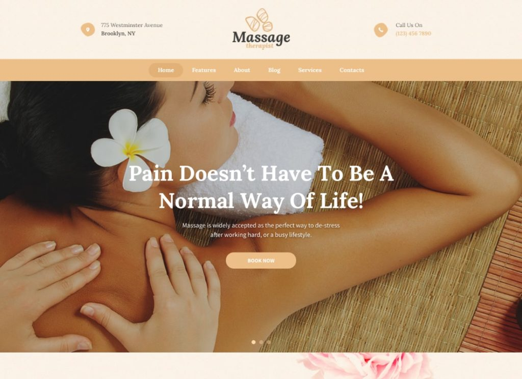 Massage Therapist | Massage and Spa Salon WordPress Theme