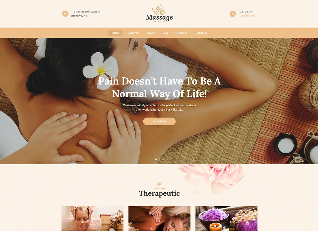 Massage Therapist |Massage and Spa Salon Luxury WordPress Theme