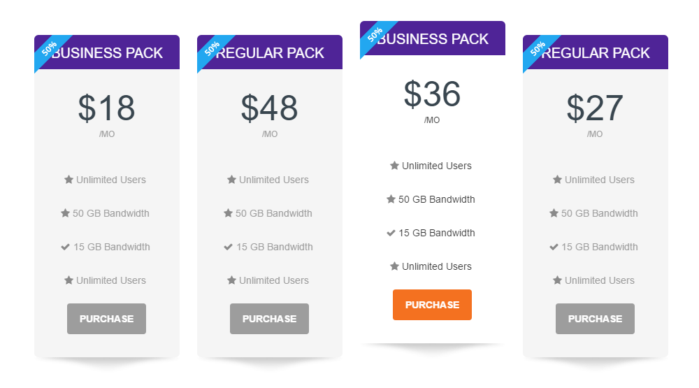 Massive Dynamic Review Pricing Table