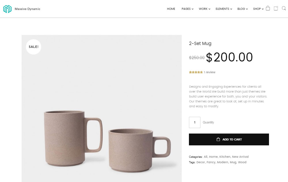Massive Dynamic Review Product Page