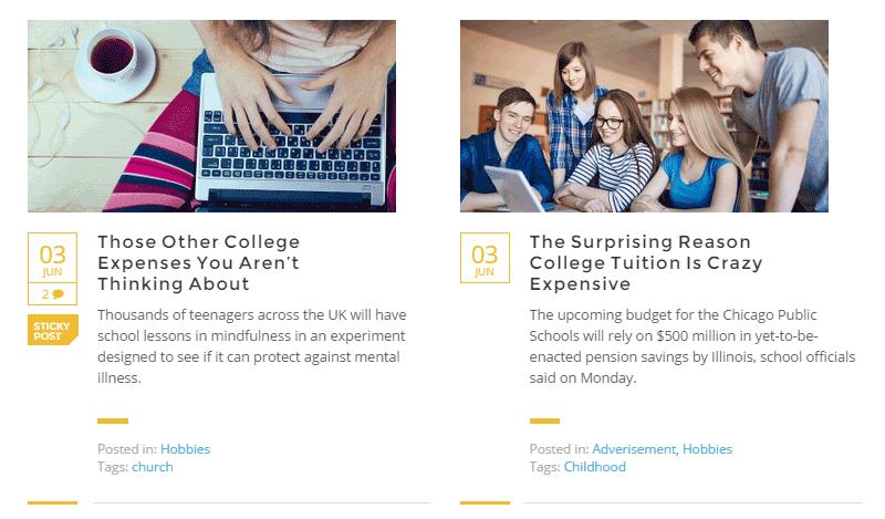 Masterstudy Blog Layout