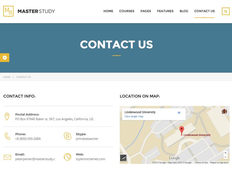 Masterstudy Contact Us