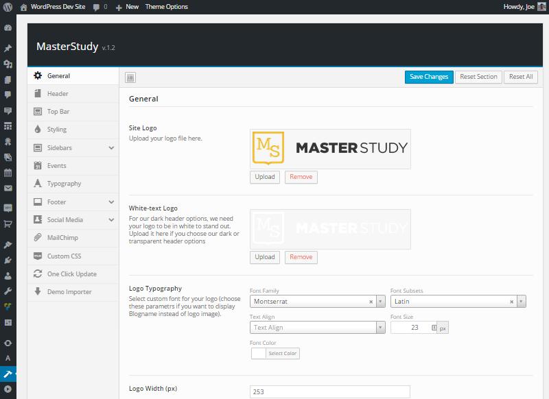 Masterstudy Control Panel