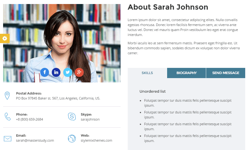 Masterstudy Instructor Profile