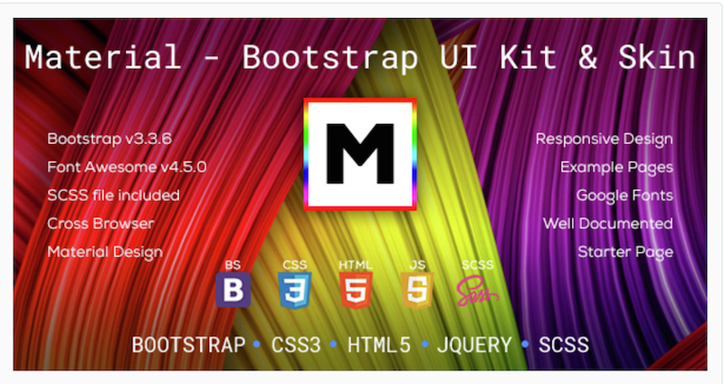 Material - Bootstrap Skin & UI Kit