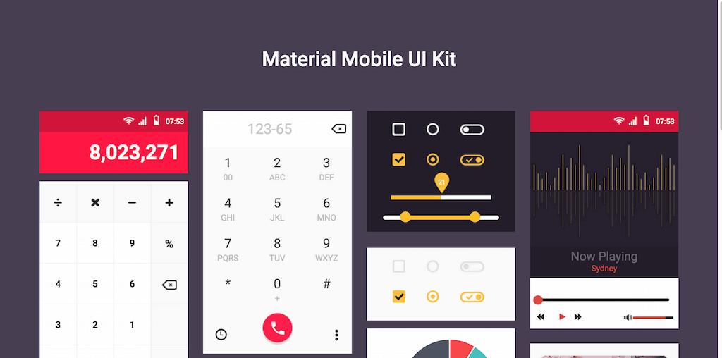 Material Mobile UI Kit