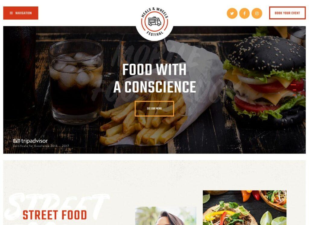 Meals & Wheels | Street Festival & Fast Food Delivery WordPress Theme