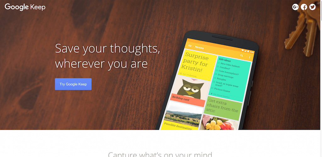 Meet Google Keep – Save your thoughts wherever you are – Keep – Google