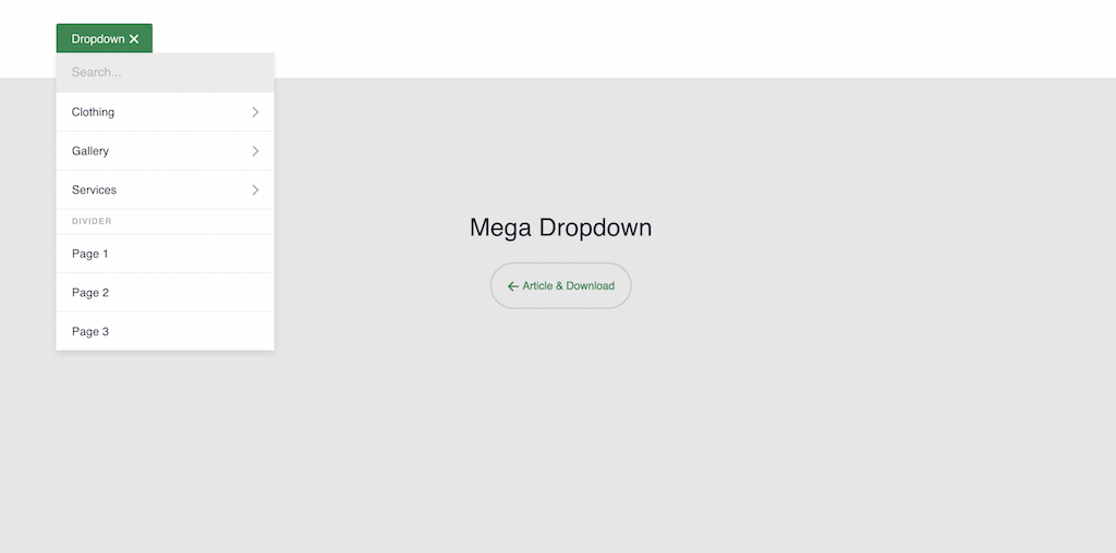 Mega Dropdown CodyHouse