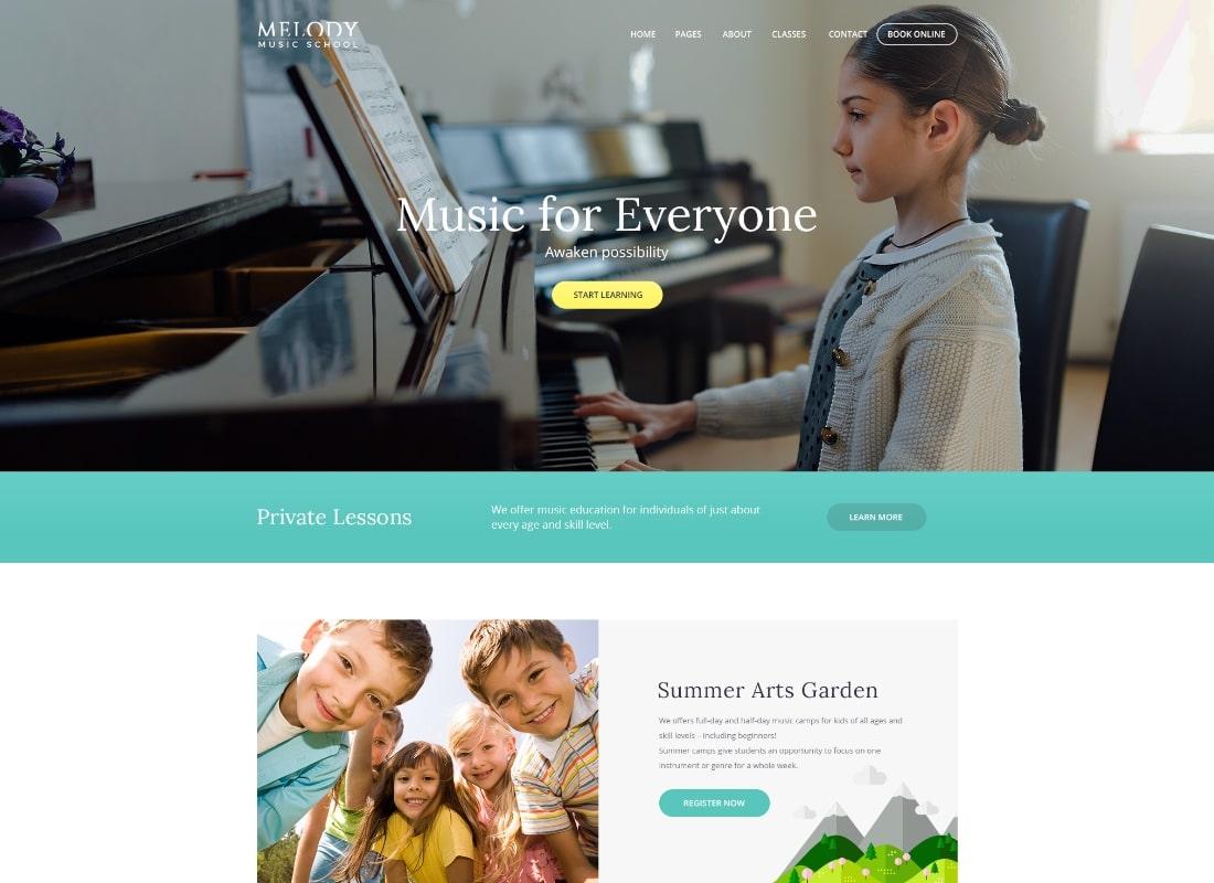 Melody | School of Arts & Music School WordPress Theme