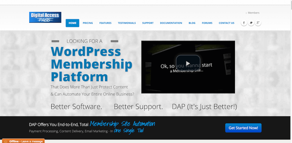 Top 11 platforms for creating a membership site with ease 2017 membership plugin for wordpress membership site software for wordpress and html sites automate payments content delivery pronofoot35fo Images