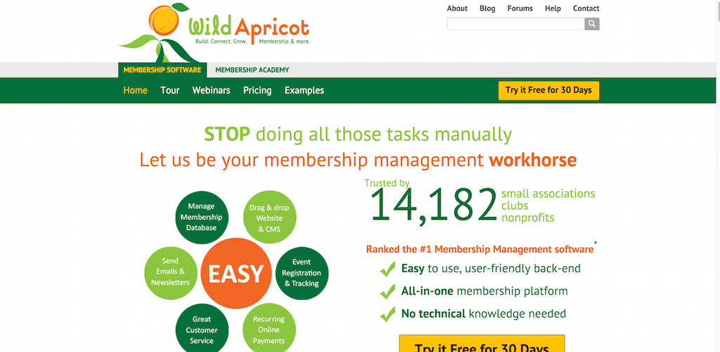 Membership Software by Wild Apricot Get a free trial now