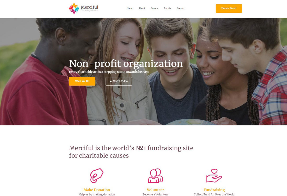 Merciful Charity Organization Website Template Image