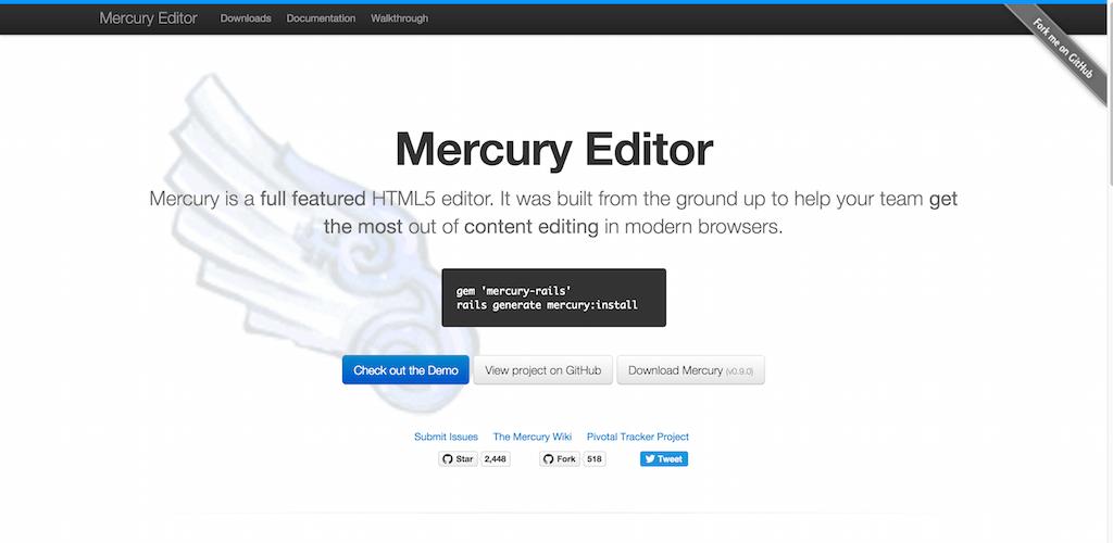 Mercury Editor The Rails HTML5 WYSIWYG Editor