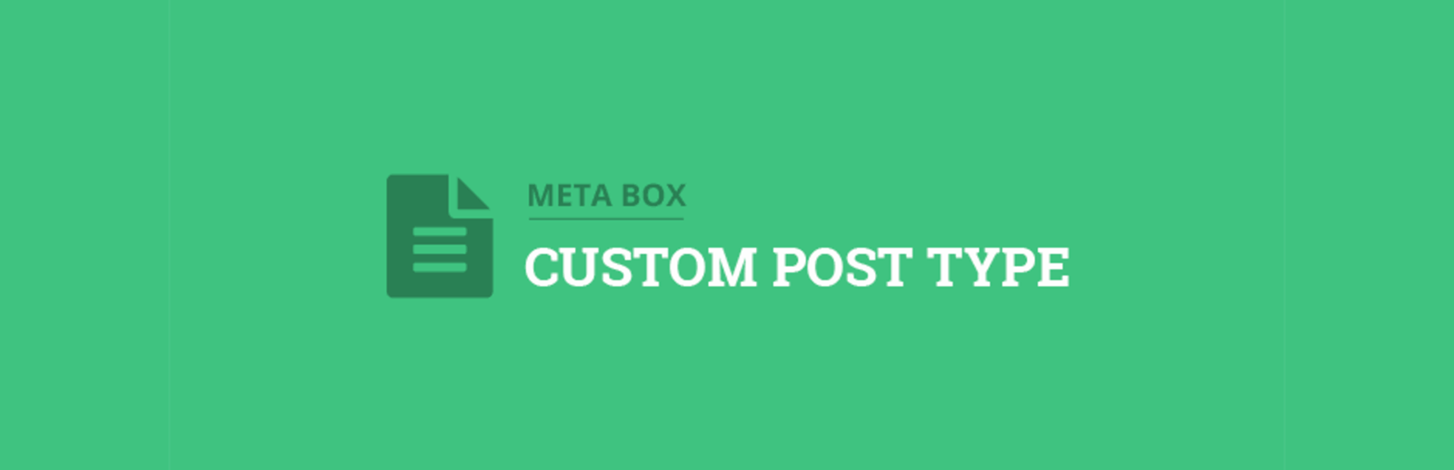 Custom Post Type Add-on