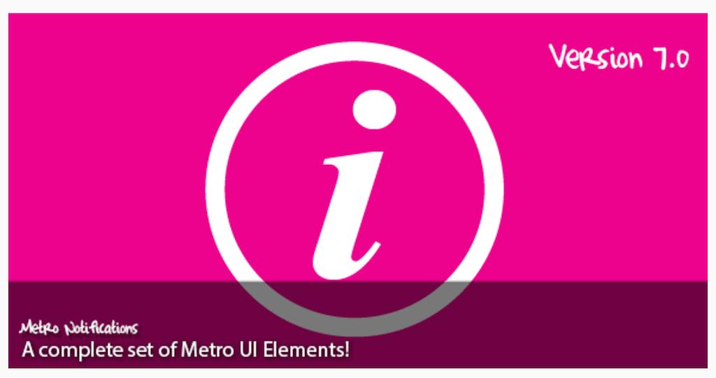 Metro Notifications JavaScript CodeCanyon