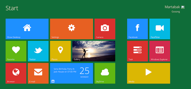 Metro UI -- Windows 8