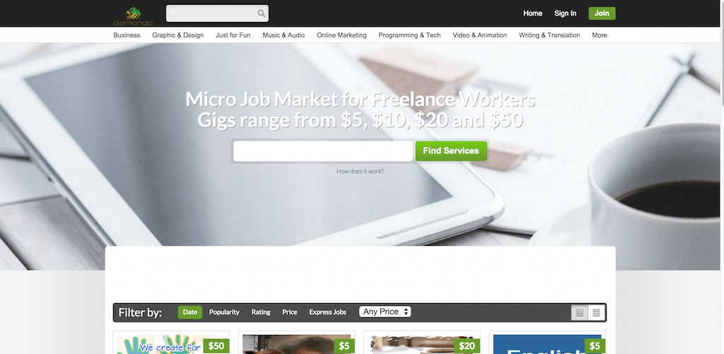 Micro Job Market for Freelance Workers Damongo