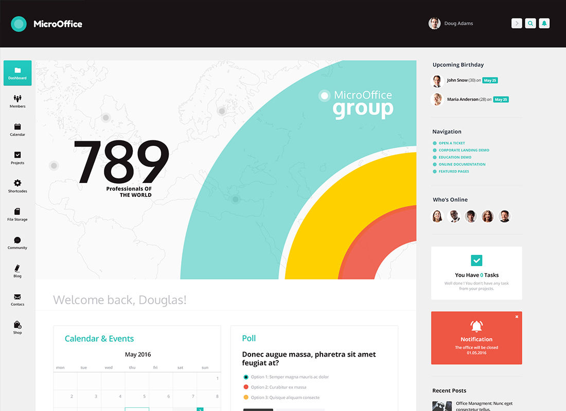 Micro Office | Extranet & Intranet WordPress Theme