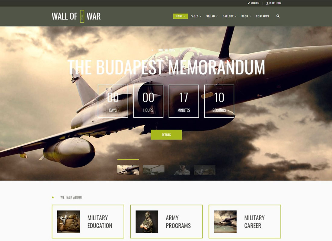 Wall of War | Military Service & Veterans WordPress Theme