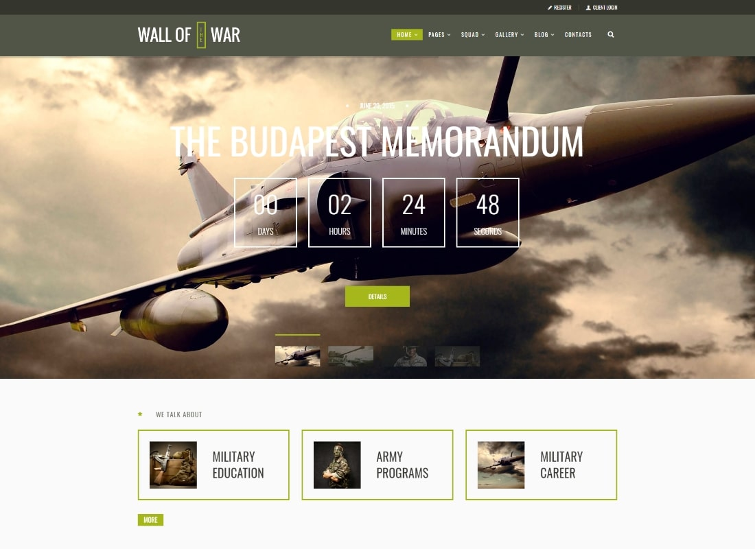 Militarology | Military Service & Army Veterans Army WordPress Theme