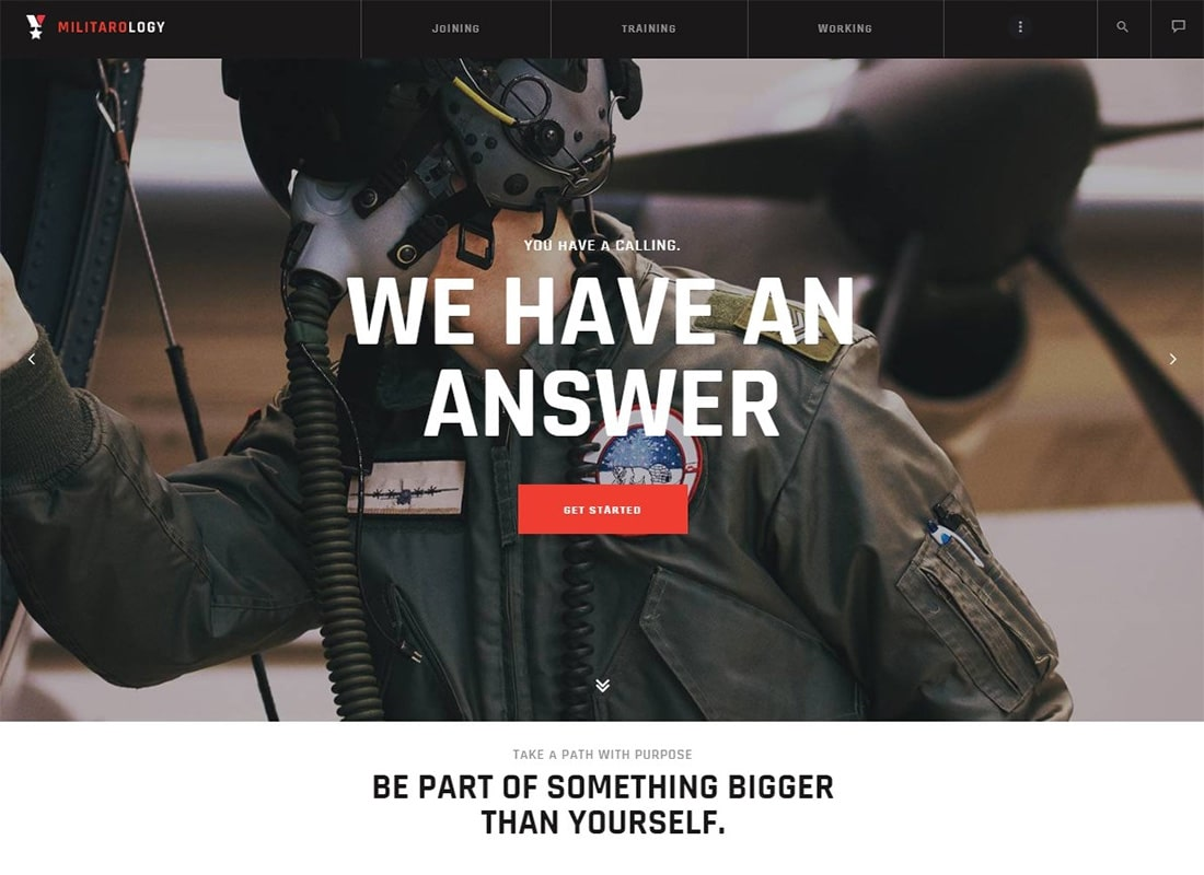 Militarology | Military Service WordPress Theme