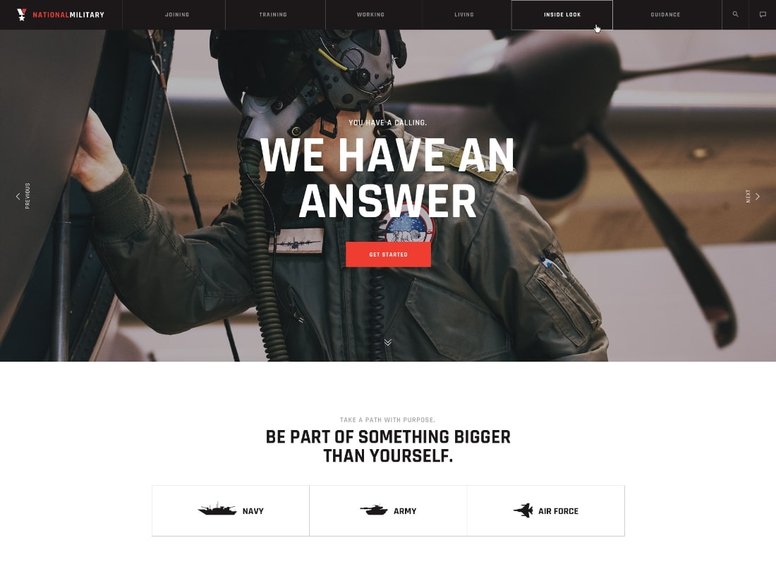 Wall of War | Military Service & Veterans Club Volunteer WordPress Theme