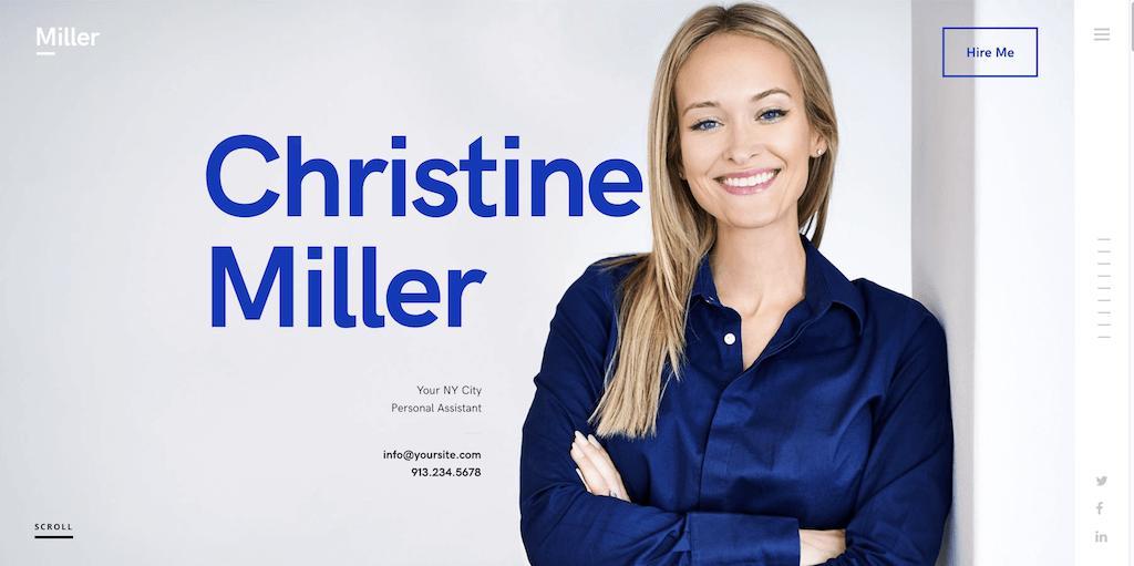 Miller - personal branding WordPress theme