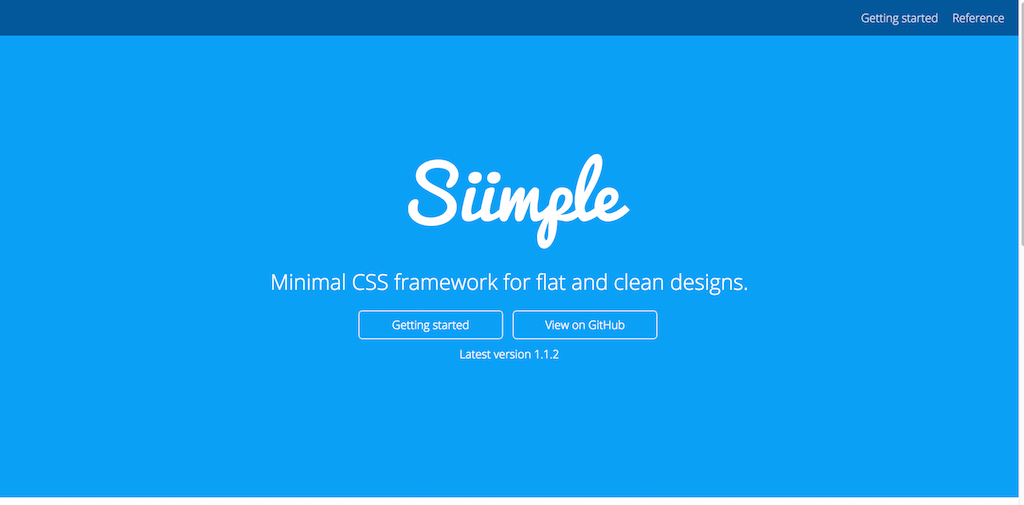 Minimal CSS framework for flat and clean designs · Siimple
