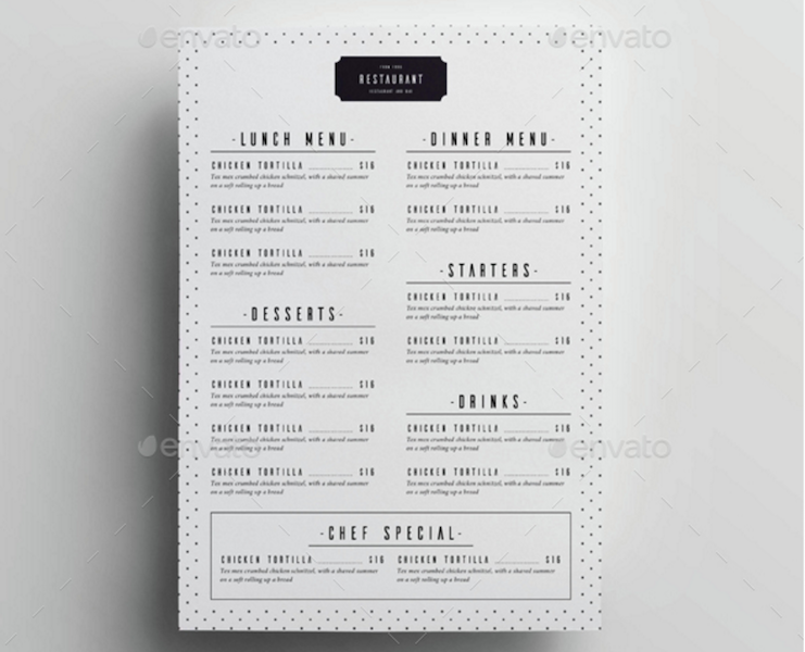 Services Menu Template from colorlib.com