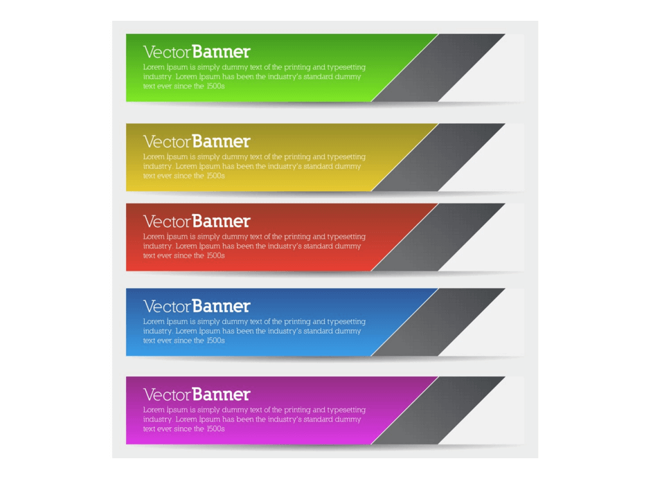Minimal Vector Banners