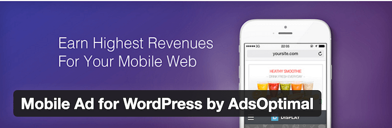 Mobile Ad for WordPress by AdsOptimal