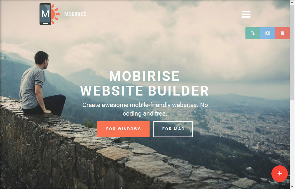 Mobirise Review Header Block