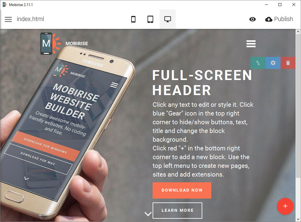 Mobirise Review Website Builder Tool