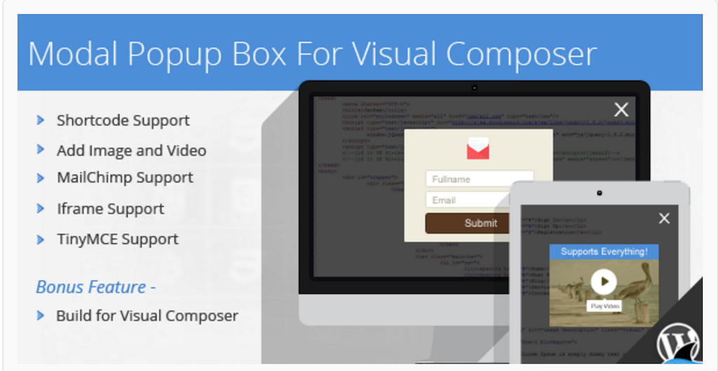 Modal Popup Box For WPBakery Page Builder WordPress