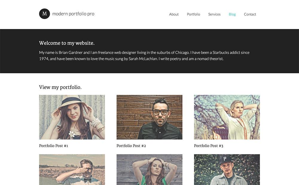 Modern portfolio theme