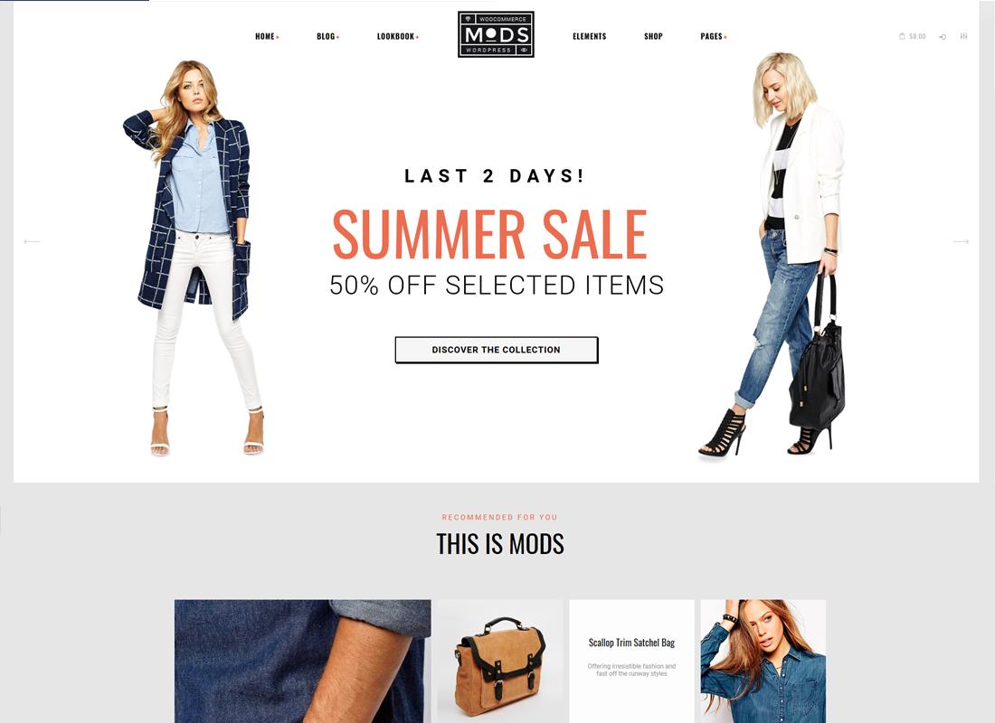 Mods - A Stylish Clothes Shop & Fashion Blog WordPress Theme
